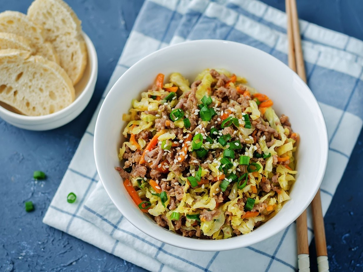 Egg roll stir fry
