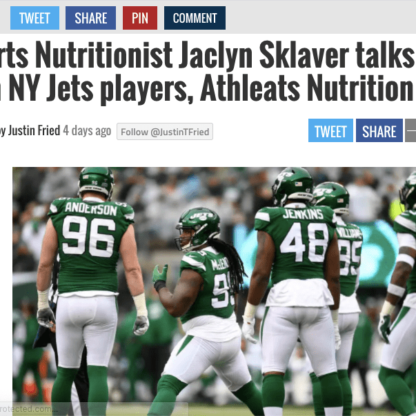 Sports Nutritionist with NY Jets