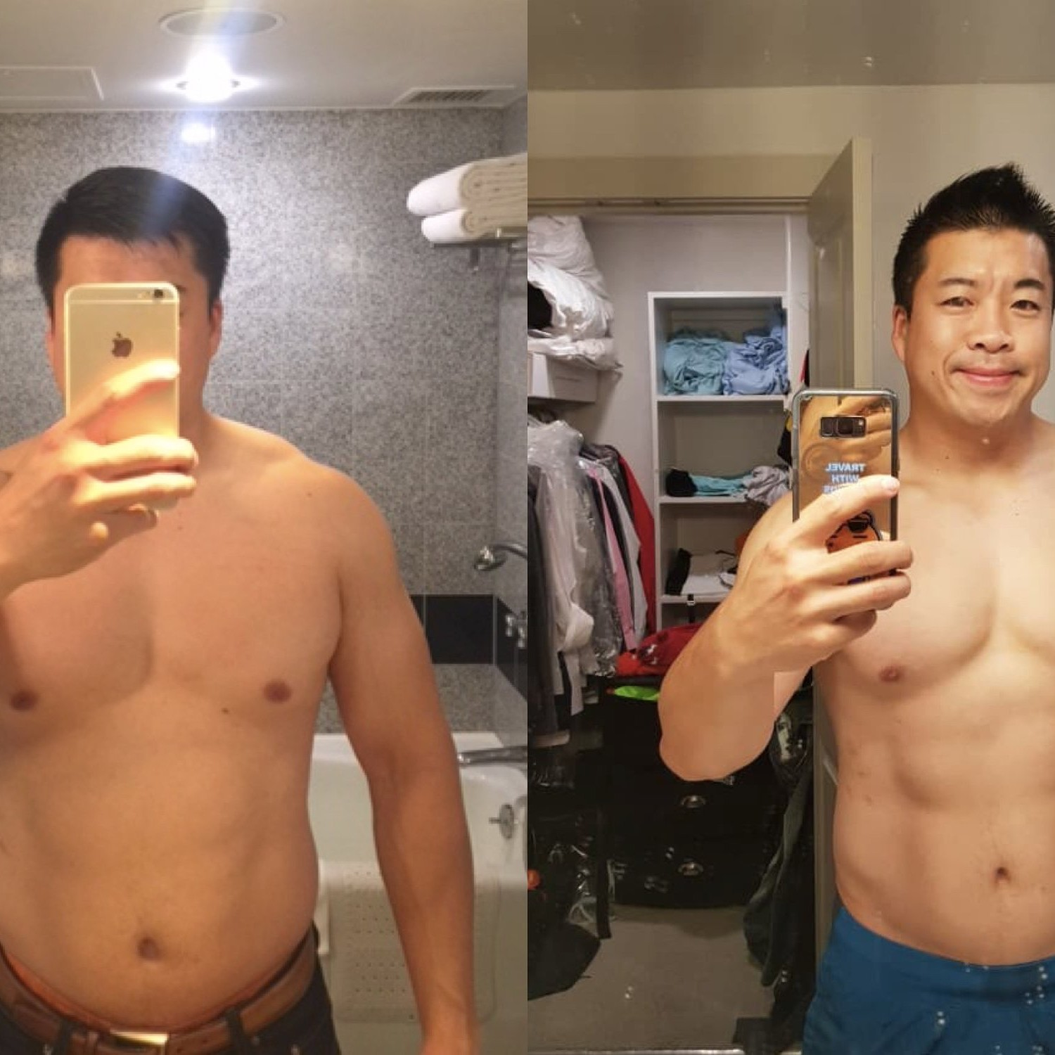Client before and after photos
